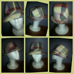 Accessories - 🌈3 for $15⭐️ Fedora Plaid Hat Yellow Pink Grey